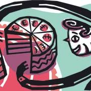 Stück vom Kuchen: Bonuszahlungen will die große Koalition künftig begrenzen
