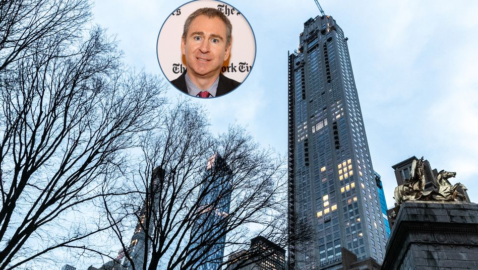 Teuerste Immobilie der USA: Hedgefonds-Milliardär Griffin (kleines Bild) erwarb ein 2200-Quadratmeter-Penthouse im Wolkenkratzer 220 Central Park South in New York.