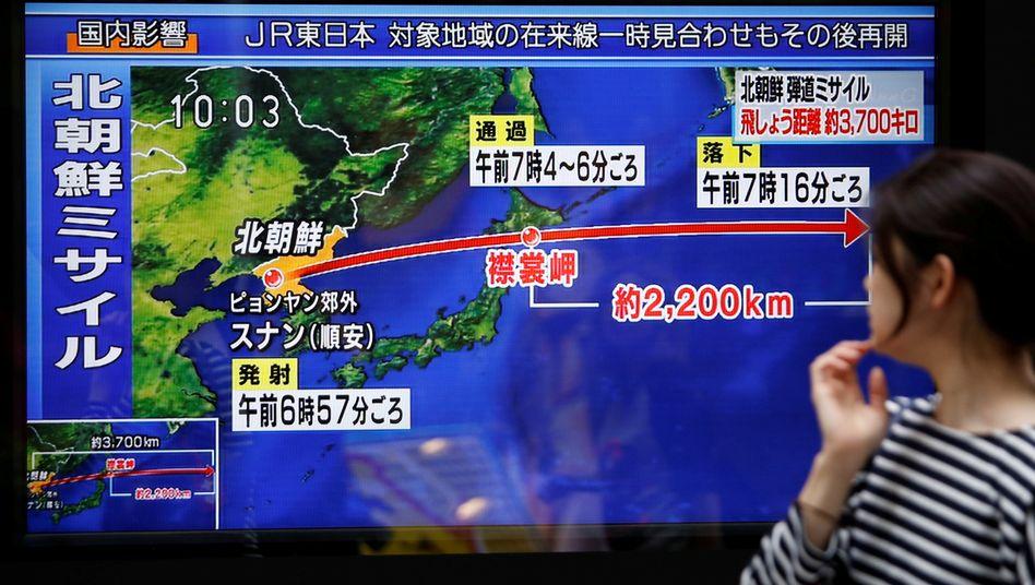 Nordkorea schießt wieder: Japan ist besorgt