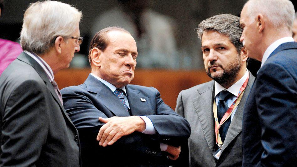 Im Zentrum der Aufmerksamkeit: Italiens Regierungschef Silvio Berlusconi