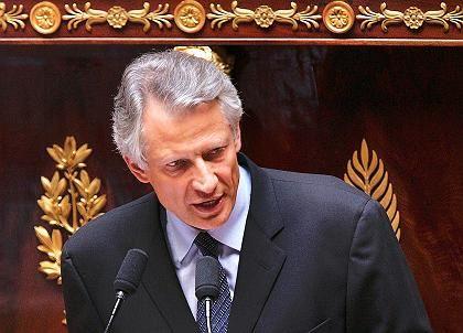 """Regierungschef Villepin: """"Wer Hilfen bekommt, muss Verpflichtungen einhalten"""""""