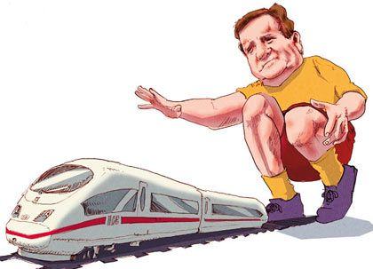 Eine klägliche Bilanz: Bahn-Chef Mehdorn