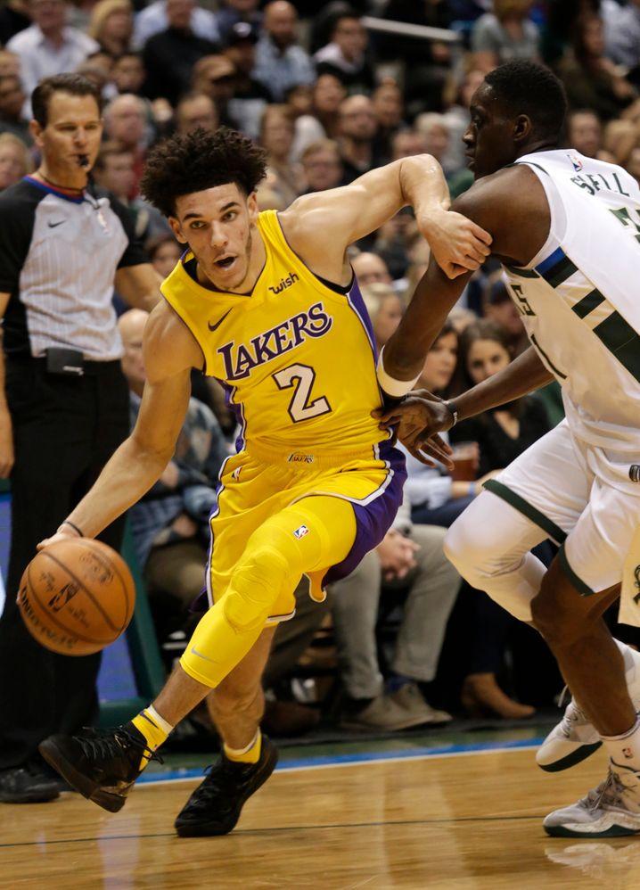 Los Angeles Lakers : Auch das NBA-Team wirbt seit einigen Monaten für Wish