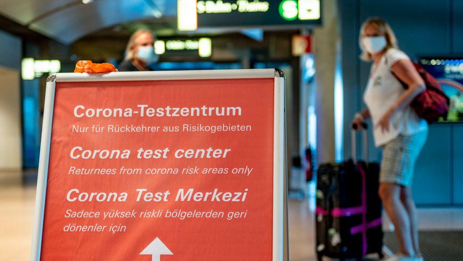 Testzentrum am Hamburger Flughafen
