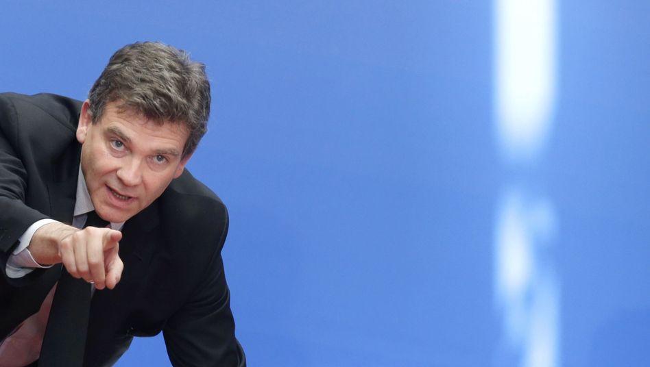 Französischer Wirtschaftsminister Arnaud Montebourg: Frankreichs Industrie will verlorenes Territorium gegenüber den US-Techriesen zurückerobern
