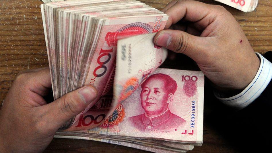 Renminbi-Banknoten: Die EZB versorgt Europas Banken mit der chinesischen Währung