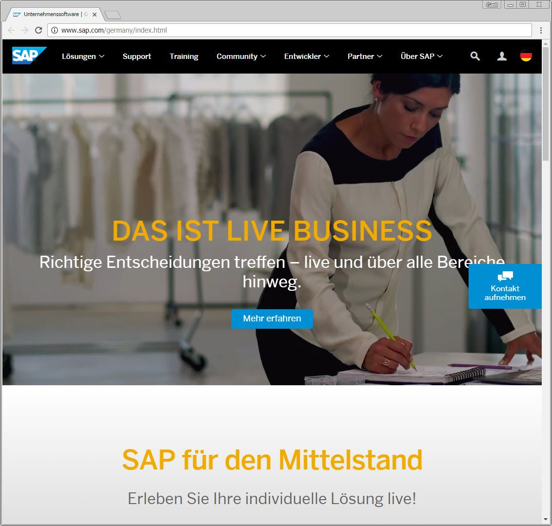 SCREENSHOT sap.com