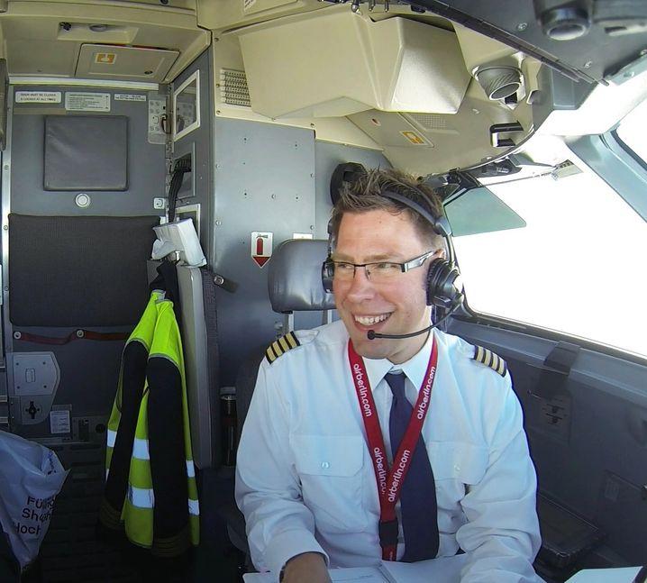 Dennis Seidel im Cockpit