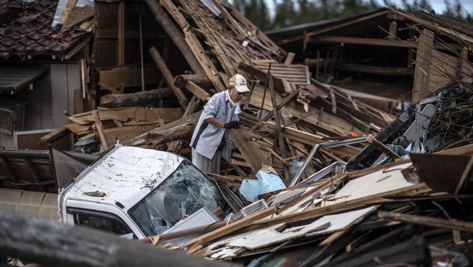Durch den Taifun Hagibis verursachte Schäden in Japan (Archivaufnahme, Oktober 2019)
