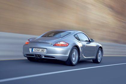 Rückleuchten vom Boxster: Porsche Cayman S von hinten