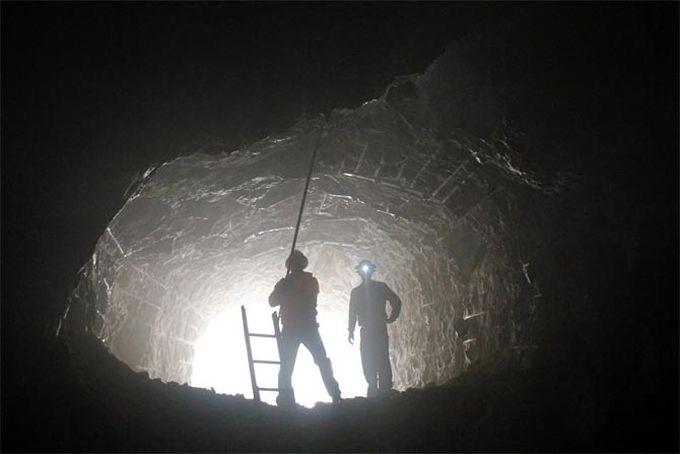 Arbeit im Stollen: Die 10.000-Jahres-Uhr entsteht in einem Berg in Texas