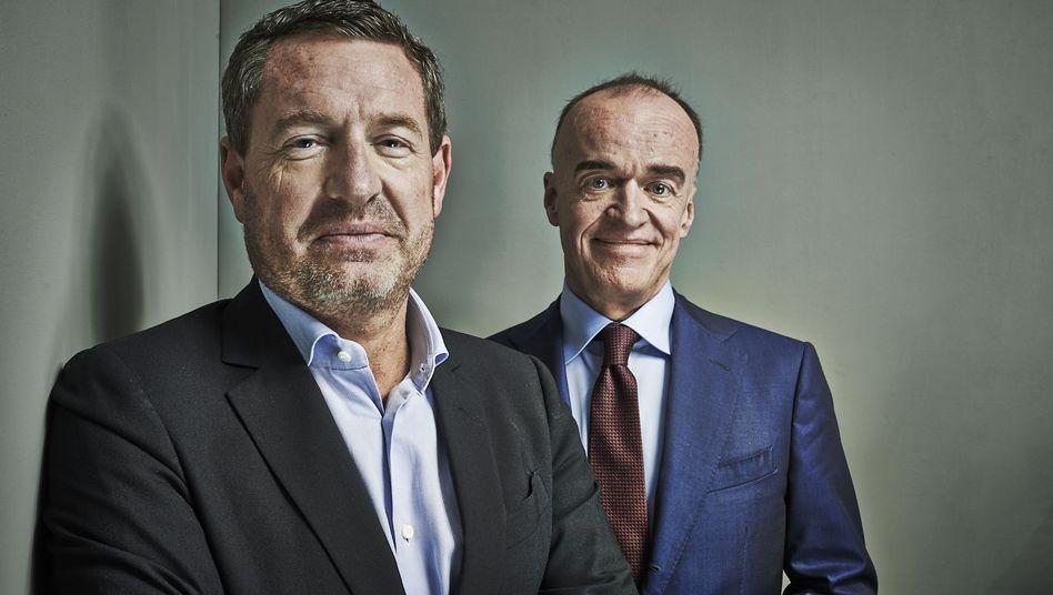 """Bislang keine Publikumsmagneten: Fonds-Manager Kai Diekmann (l.) und Leonhard """"Lenny"""" Fischer."""