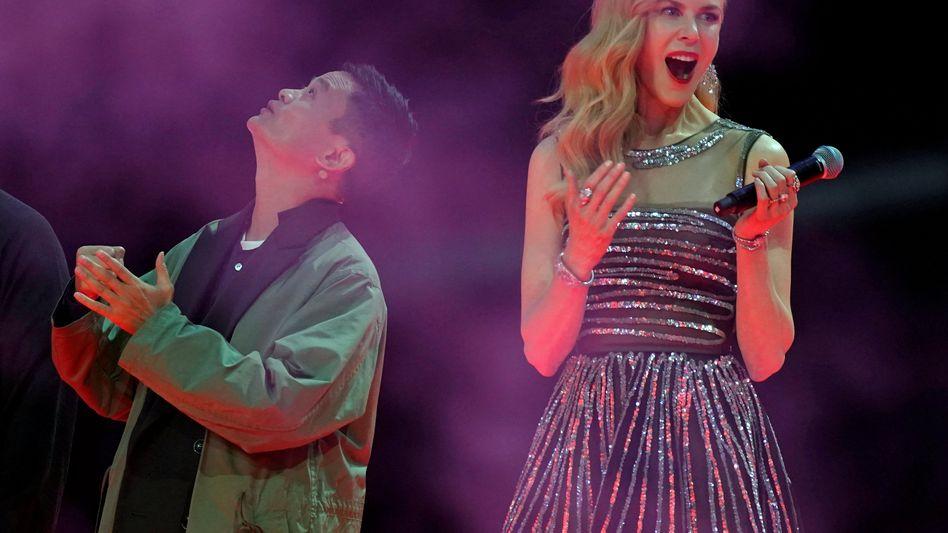 Alibaba-Chef Jack Ma und Schauspielerin Nicole Kidman bei einer Singles-Day-Veranstaltung
