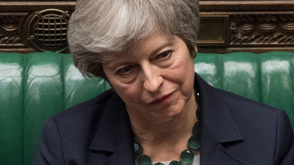Theresa May: Die britische Premierministerin lässt das Parlament heute Abend über eine Verschiebung des Brexits abstimmen