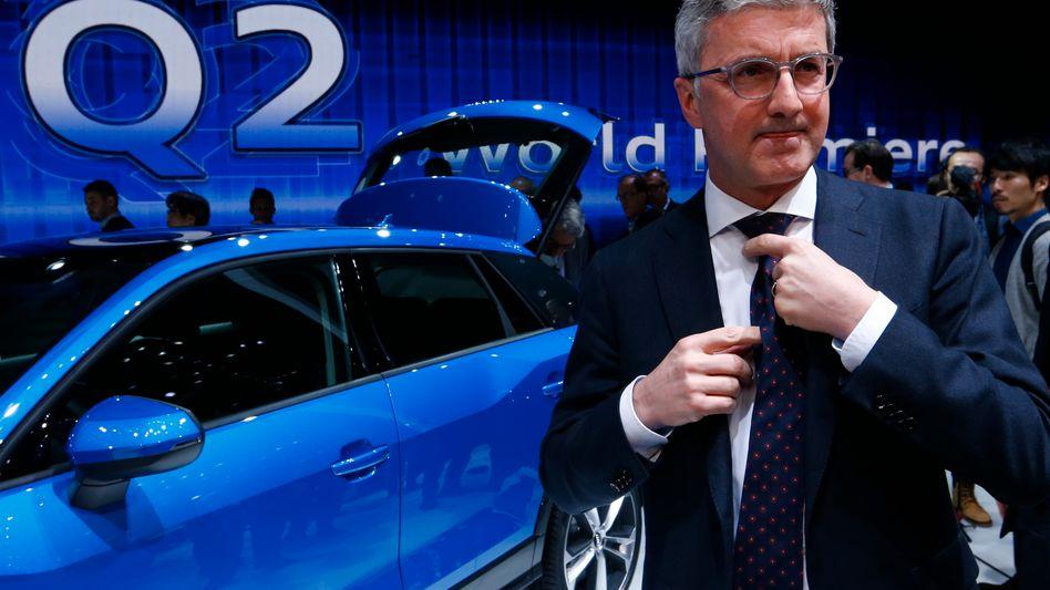 Rupert Stadler bei einer Automesse: Eine Lenkwinkel-Erkennung setzt dem Audi-Chef derzeit schwer zu