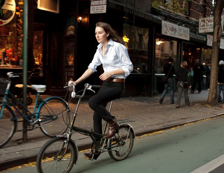 Stilsicher: Mit bürotauglichen Radlerhosen scheuert am Gesäß nichts auf