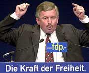 Er wird nicht FDP-Kanzlerkandidat: Jürgen Möllemann
