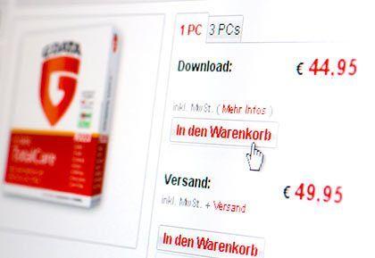 Sparen durch Download: Viele Hersteller bieten Software zum Herunterladen billiger an als die entsprechenden Programme auf Datenträgern
