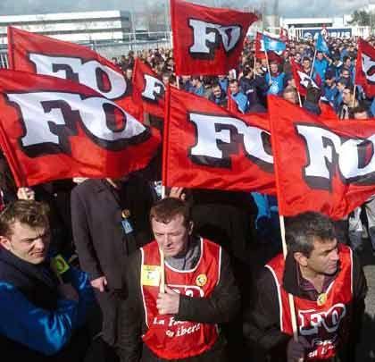 Demonstration: Französische Airbus-Angestellte in Toulouse