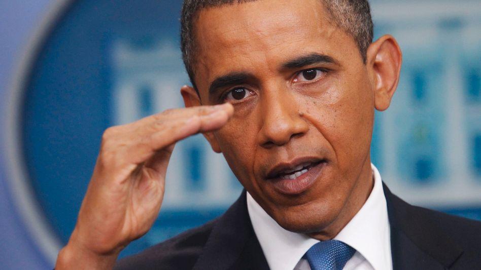 """Nach dem vierten erfolglosen """"Schuldengipfel"""" richtet US-Präsident Barack Obama scharfe Warnungen an die Republikaner"""
