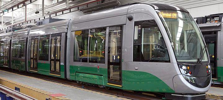 Während der WM im Testbetrieb: Straßenbahn in Cuiabá