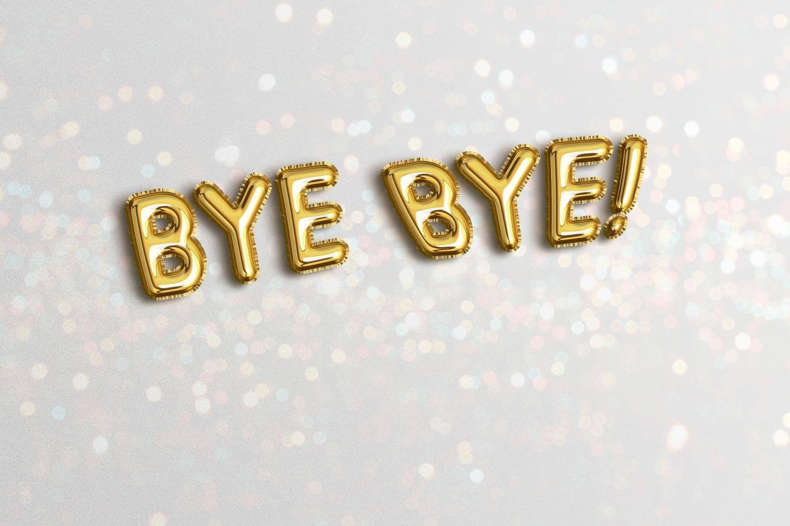 bye bye message in foil balloon