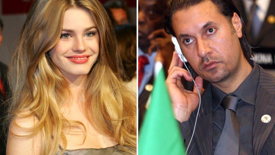 """Zu viel geplaudert: """"Alice""""-Model Vanessa Hessler hatte eine Beziehung zu dem getöteten Gaddafi-Sohn Mutassim Gaddafi"""