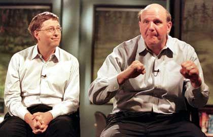Führte Gates auf Partys ein: Steve Ballmer (rechts)