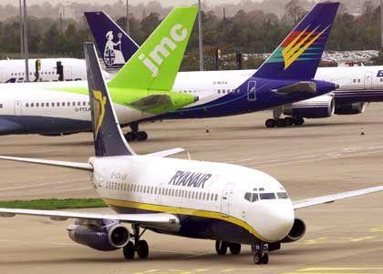 Ryanair-Boeing am Flughafen Manchester