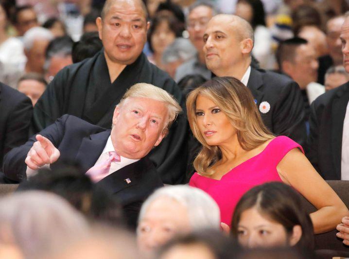 Trump mit Ehefrau Melania beim Sumo-Ringen: Donald sieht Politik als Kampf