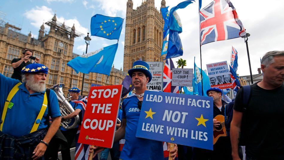 Anti-Brexit-Demo vor dem Parlament in London