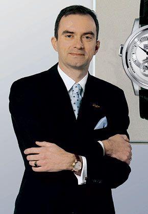 Kein Unbekannter in der Uhrenbranche: Frank Müller, Geschäftsführer von Glashütte Original, übernahm am 1. September das Amt vom langjährigen Chef Heinz W. Pfeifer