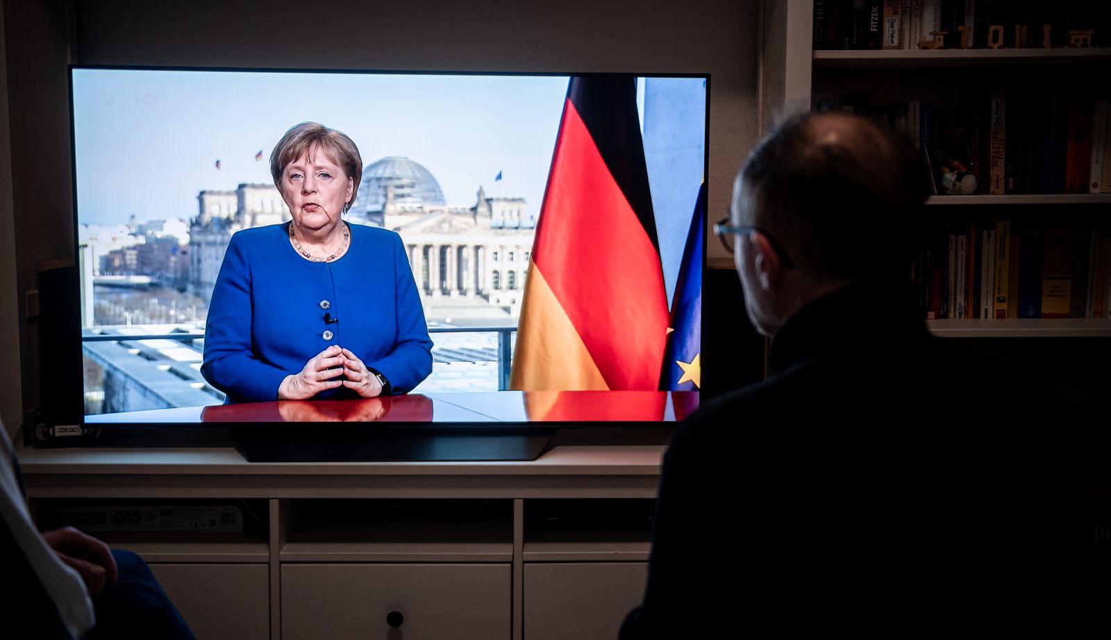 Coronavirus - Merkel hält Fernsehansprache