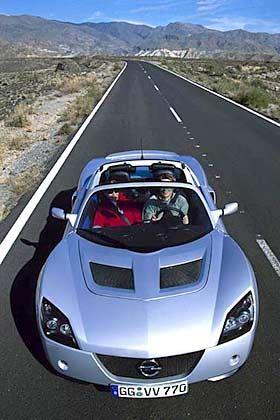 Offenes Vergnügen der Neuzeit: Opel Speedster