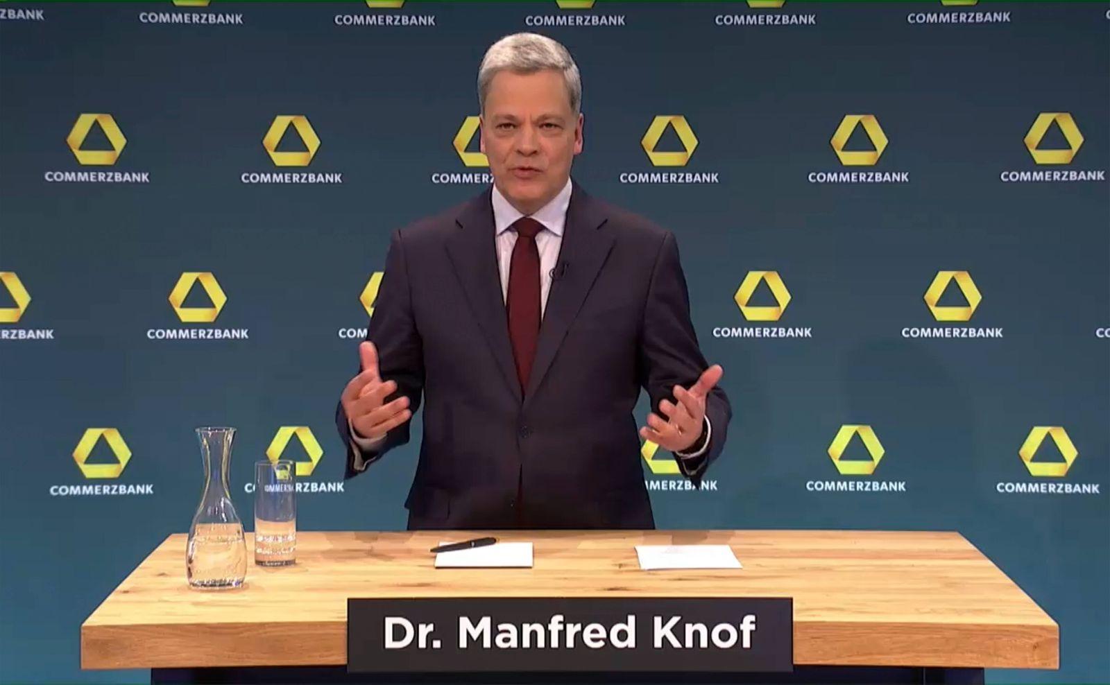 Deutschland, Frankfurt, 11.02.2021 Jahrespressekonferenz der Commerzbank AG Foto: Dr. Manfred Knof, Vorstandsvorsitzend