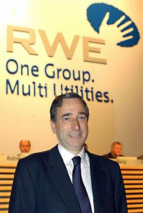 Großbaustelle RWE: Konzernchef Harry Roels hat viel zu tun 2004