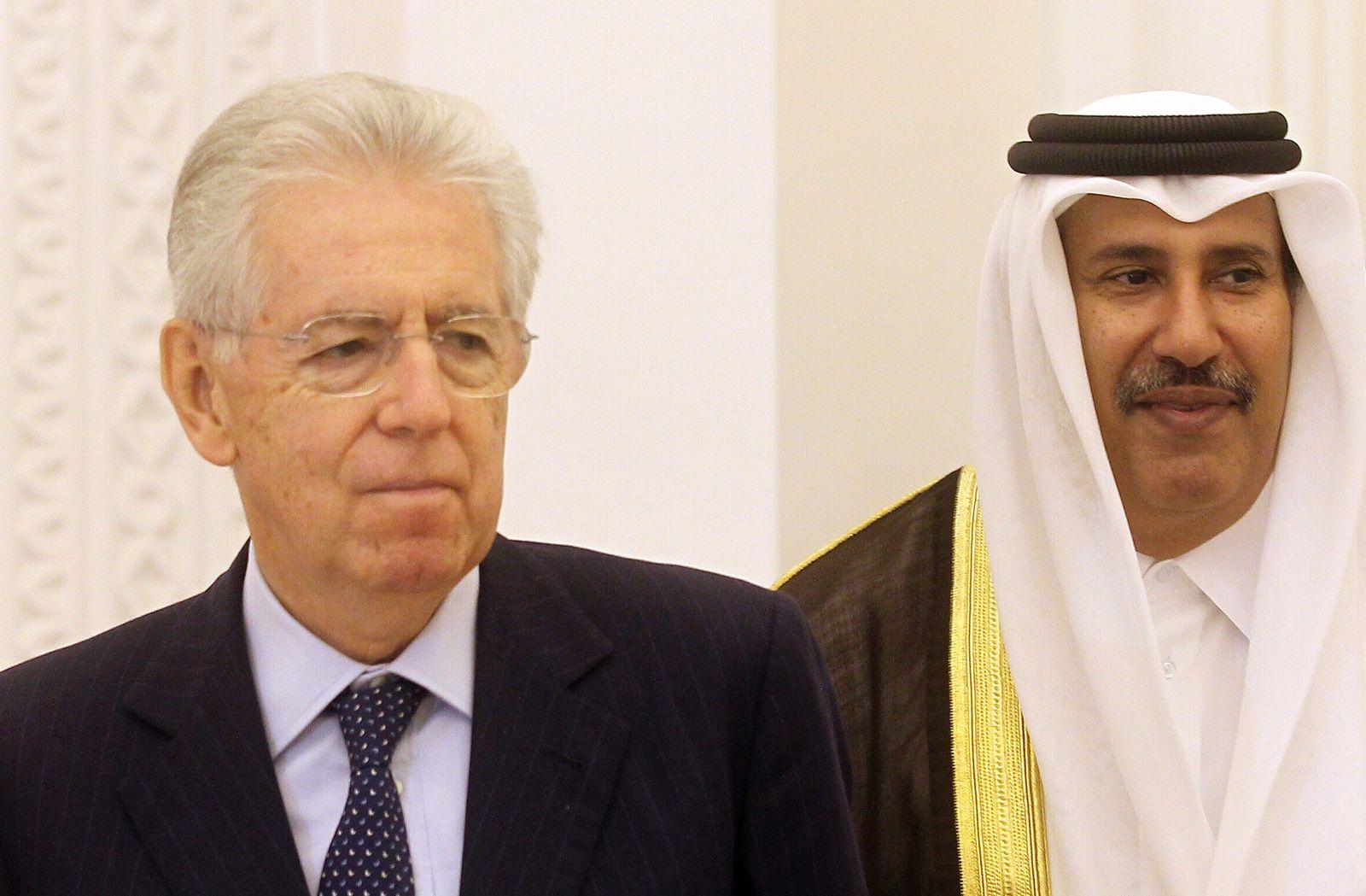 Mario Monti / Quatar / Scheich / Sheikh Hamad bin Jassem bin Jabr al-Thani