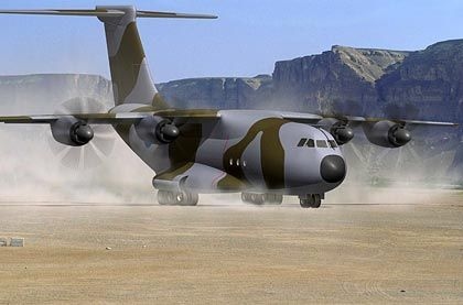 Kommt später: Der Militär-Transporter des Typs Airbus A400M verursacht Mehrkosten von mindestens einer Milliarde Euro
