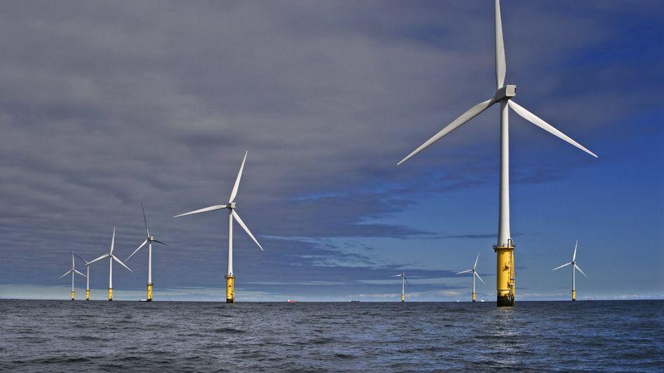 Innogy-Windpark vor der Küste von Nordwales