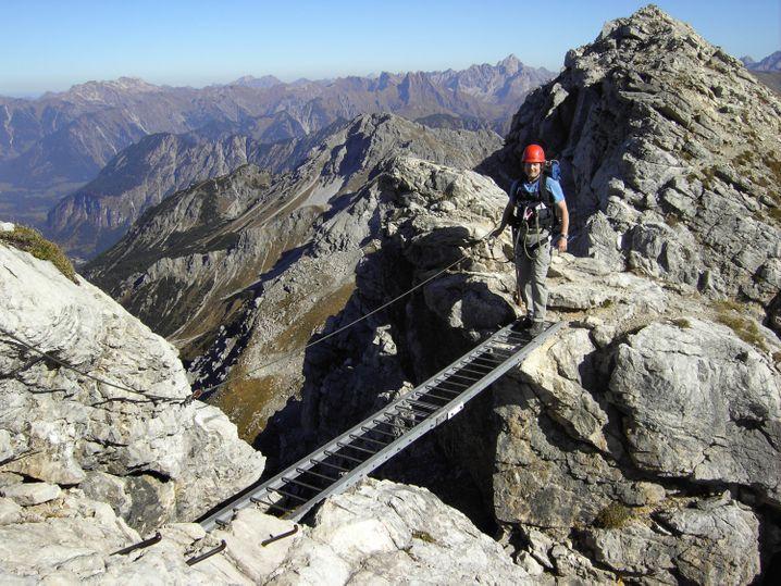 Besondere Ausblicke bietet der Mindelheimer Klettersteig - er ist allerdings etwas anspruchsvoller als der Hindelanger Steig.