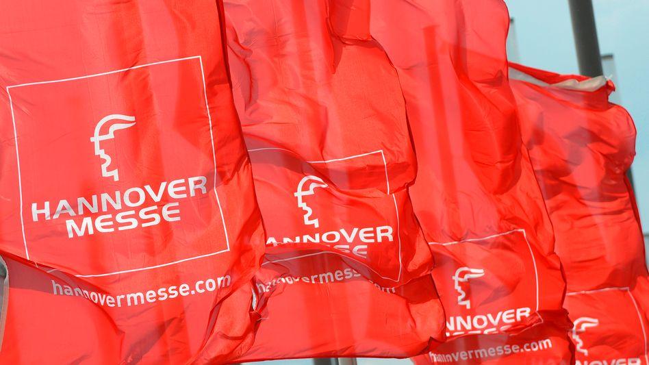Flaggen der Hannover Messe: 6500 Aussteller erwartet