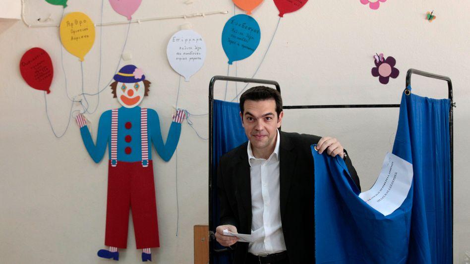 Syriza-Chef Alexis Tsipras: Eine schöne, bunte neue Welt - finanziert mit dem Geld der Euro-Partner