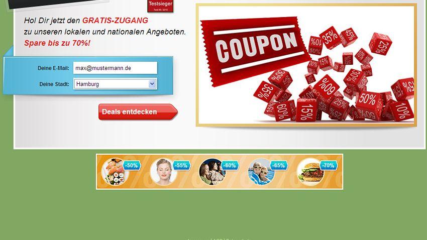 Groupon-Website: Waren und Dienstleistungen können hier zu einem deutlich reduzierten Preis erworben werden