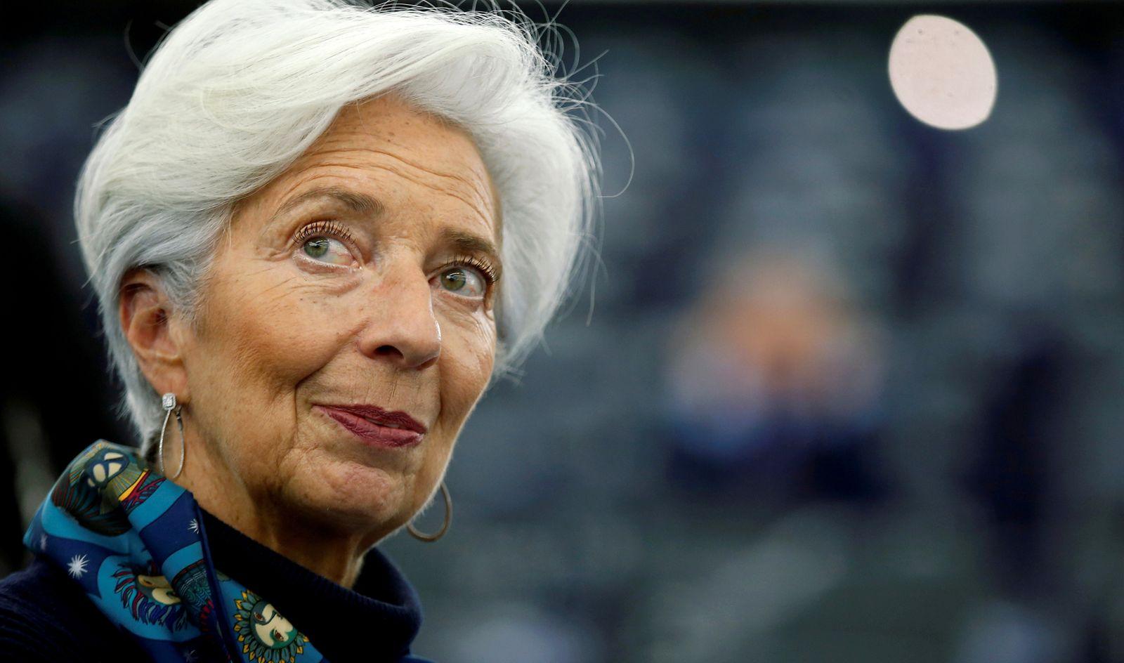 FILE PHOTO: European Central Bank President Lagarde addresses the European Parliament in Strasbourg