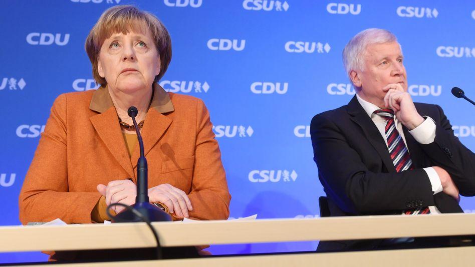 Merkel, Seehofer: Die Union will ihr Wahlprogramm am Montag erläutern