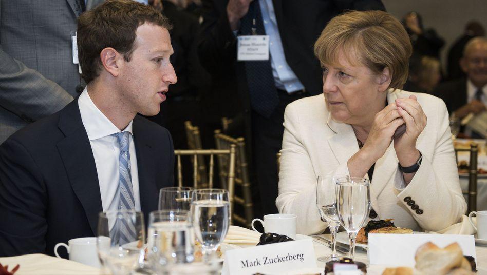 Angela Merkel, Facebook-Gründer Mark Zuckerberg: Prototypen des politischen Unternehmers