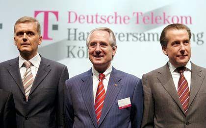 Führungstrio: Vorstandschef Ricke, Aufsichtsratschef Zumwinkel und Finanzvorstand Eick