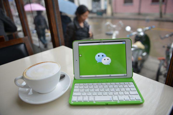 ... auf WeChat aus.