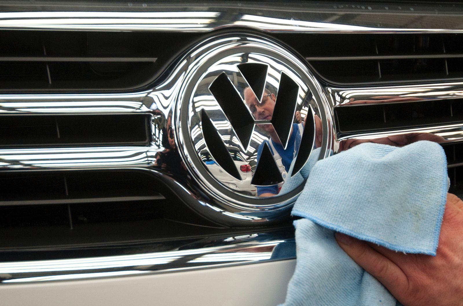 NICHT VERWENDEN Unternehmen / Emblem / VW / Bilanzen / Volkswagen