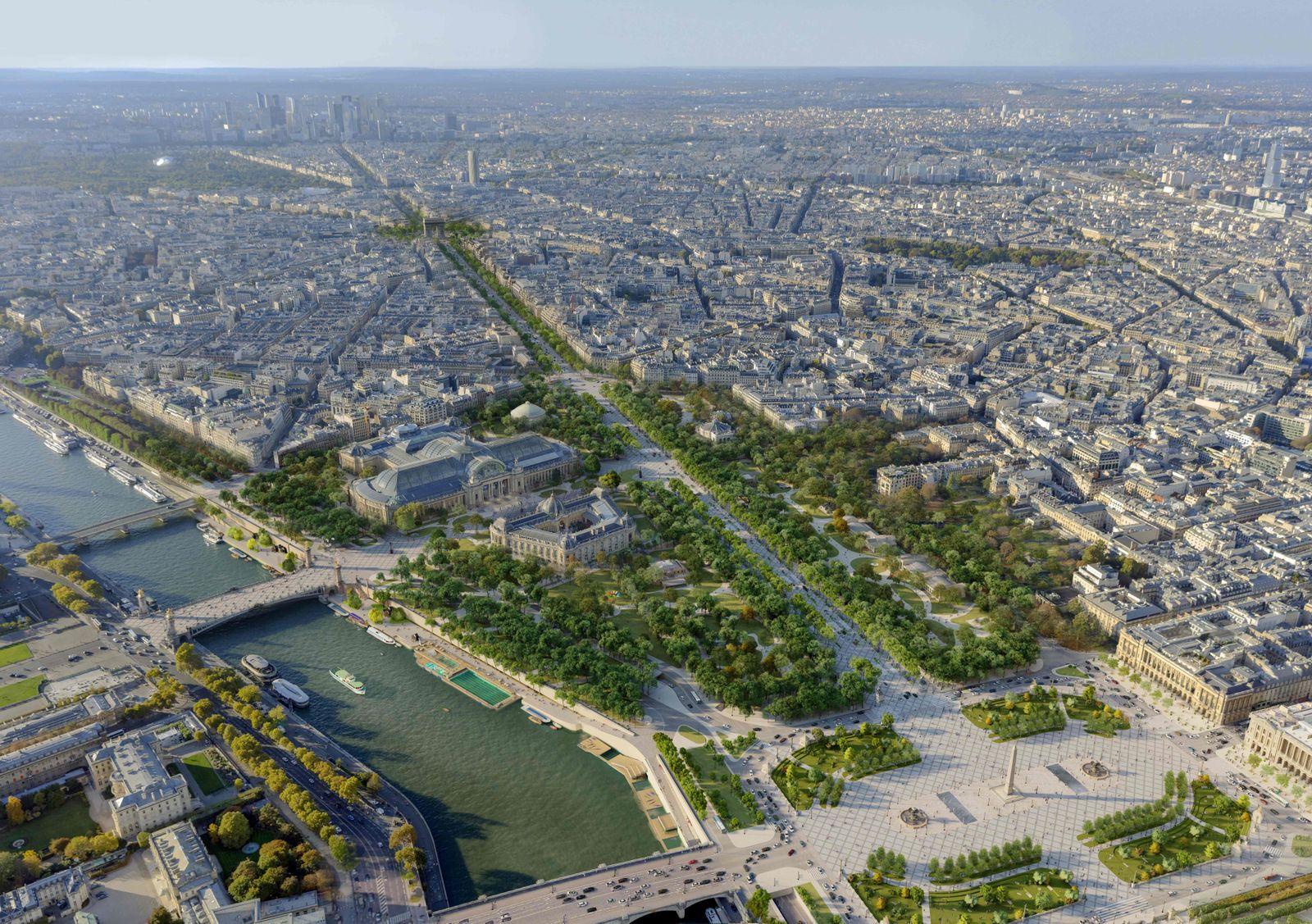 FRANCE-URBANISATION-ENVIRONMENT-PARIS-CHAMPS-ELYSEES
